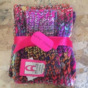 Betsey Johnson Infinity Scarf & Headband Set